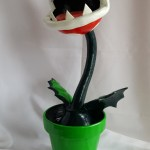 Piranha plant gourd sculpture by Nathan Thomas