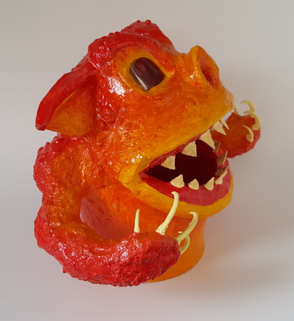 Flame Demon Gourd Sculpture