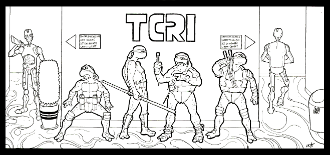 Teenage Mutant Ninja Turtles Coloring Page Root Inspirations