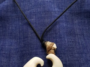 beef bone spiral necklace