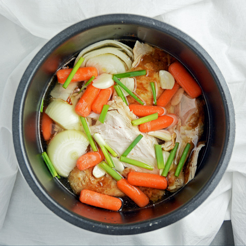 Pressure Cooker Chicken Broth Before Cooking
