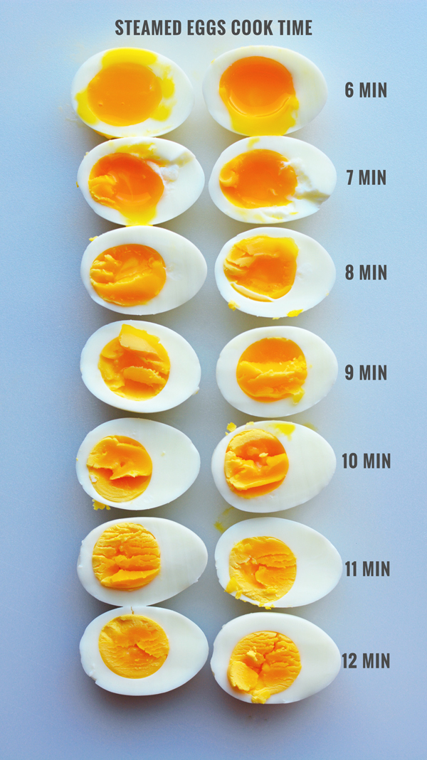 Steam Boiled Eggs With Cooking Times The Root Family Review