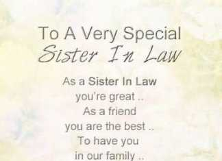 special sister in law quotes