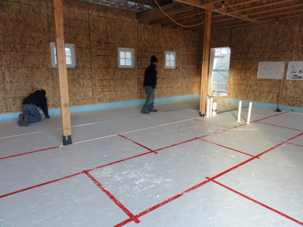 Installing A Unique Insulated Floor System Root River House
