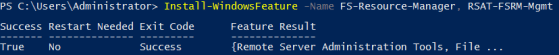 PowerShell Install File Server Resource Manager