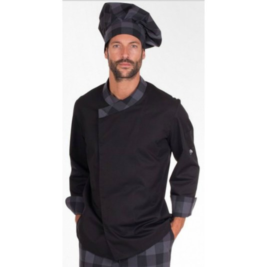chaquetilla de cocina negra