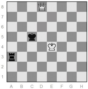 queen versus rook endgame of chess