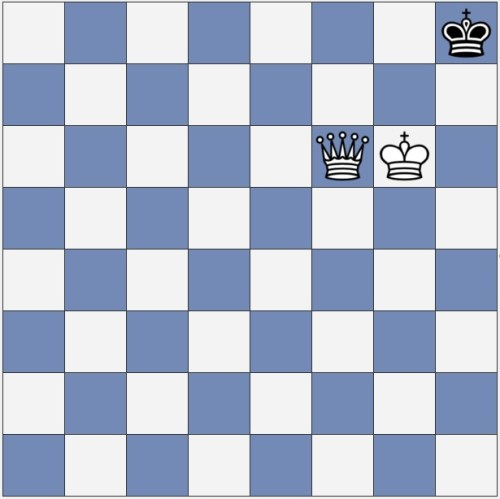 This is not checkmate, but mate can come on the next move