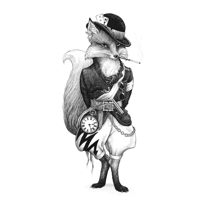 Fantastic Mr Fox Intricate Ink Print