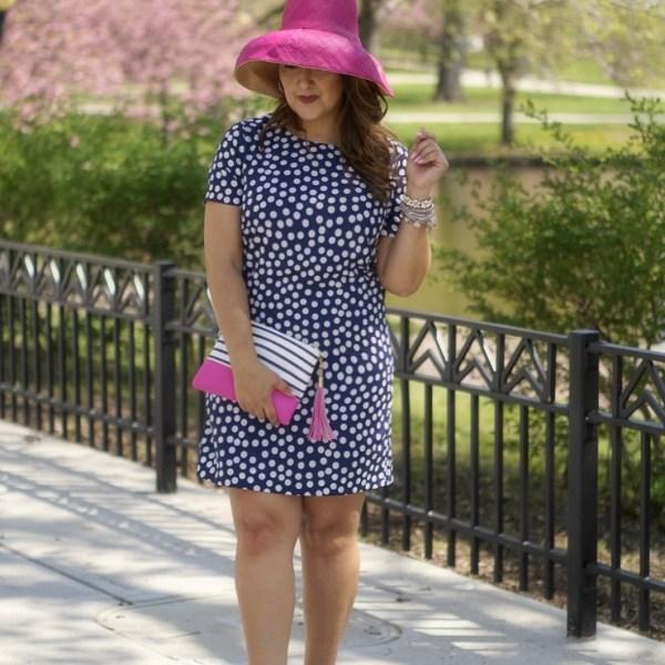 Dotted Dress & Derby Hat