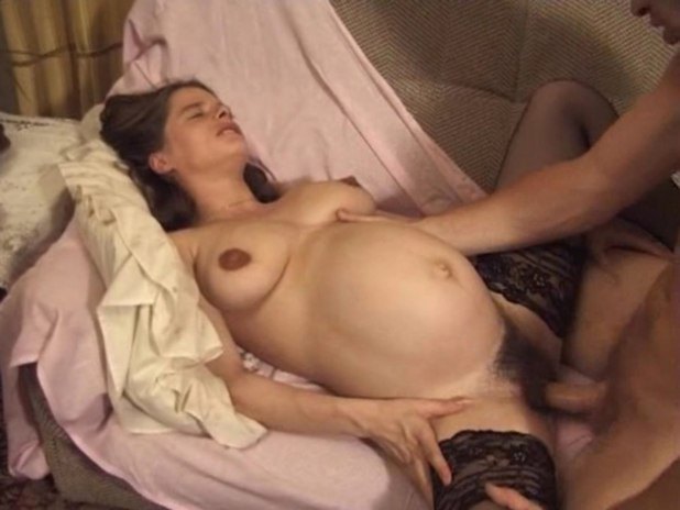 Nude Pregnant Women Giving Birth While Having Sex-3675