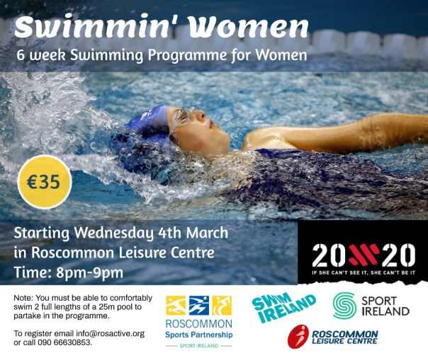 Swimmin Women - 6 week Swimming Programme for Women - roscommon Sports Partnership