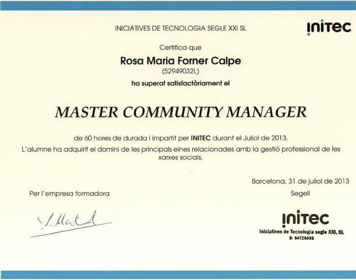 Máster intensivo de Community Manager