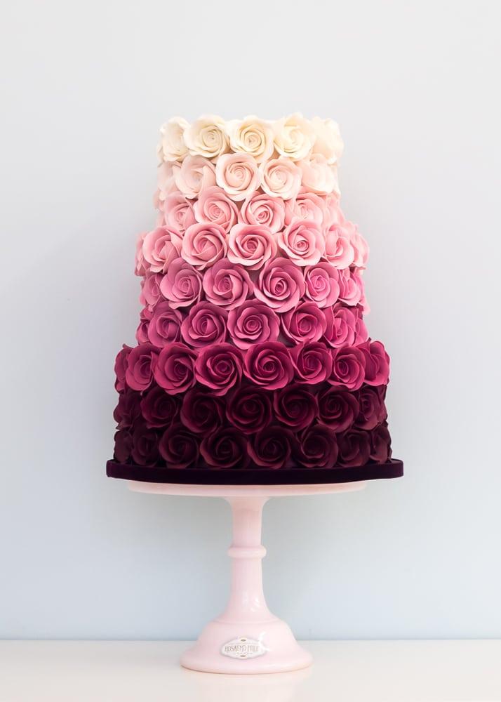 Ombre Rose Rosalind Miller Cakes London UK