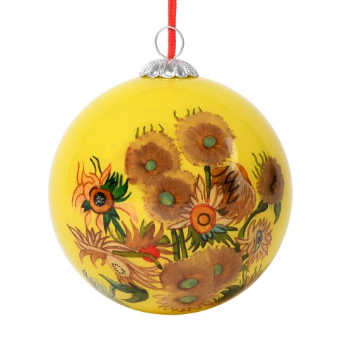 xmas_kerstbal_ornament_art_van_gogh_zonnebloemen