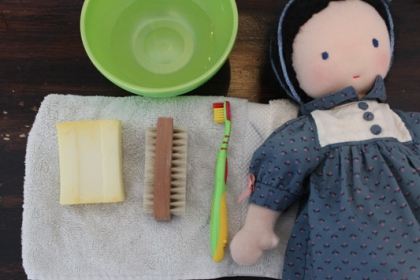 How to clean a waldorf doll