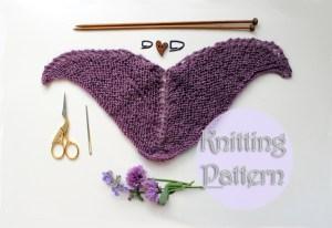 knitting pattern doll shawl Strickanleitung Puppe