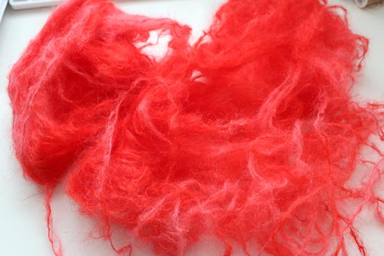 Mohair Wolle färben mit Kool-Aid