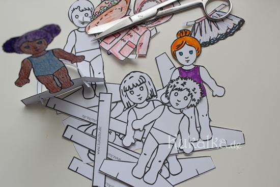 Paper Dolls, Waldorf, Papier Puppe, Anziehpuppe, Kukalka, Cutout, Mandlbogen