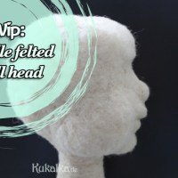 [:de]Von Fortschritten: WIPs #2 - needle felt doll[:en]Of progress: WIPs #2 - needle felted doll head[:]