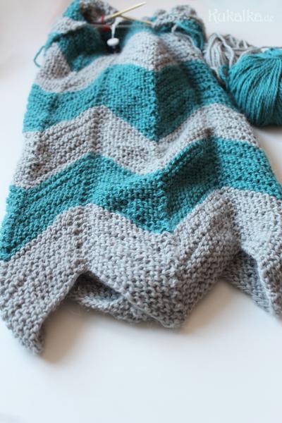 Babydecke & Pullover - Chevron Baby Decke stricken