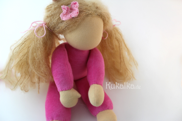 Puppe ohne Augen Mund Waldorf gesicht
