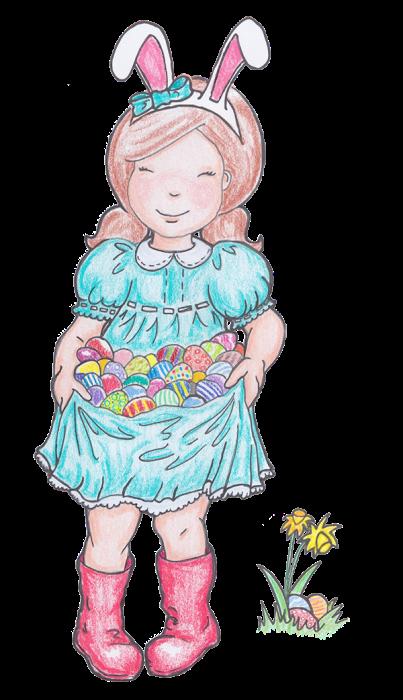 Ausmalbild Ostern Illustration Ei Ostern Hase Bunny Postkarte