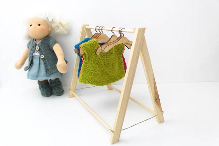 Puppe Kleiderständer Bügel