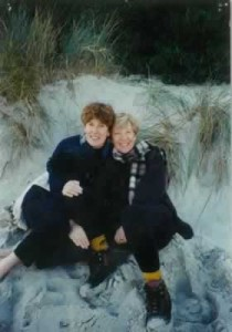 Pam and Annie at the beach, 1997