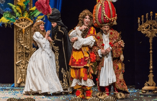Imagen de la representación de la comedia-ballet Le Bourgeois Gentilhomme, obra para la que Jean-Baptiste Lully (1632 - 1687) compuso la Marche pour la Cérémonie des Turcs en 1670.