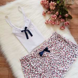 Short Animal Print Rosa y Azul