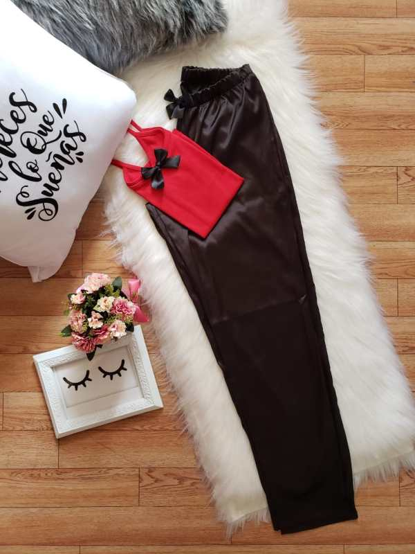 Pantalón en Satén Negro
