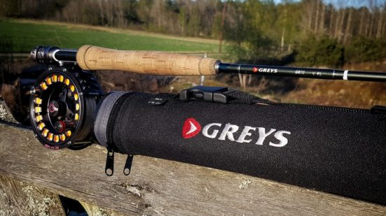 Greys GR 70 fluestang. Denne stanga er på 9 fot og i klasse 5. Perfekt til tørrflue etter ørret og til det lette fisket etter sjøørret.