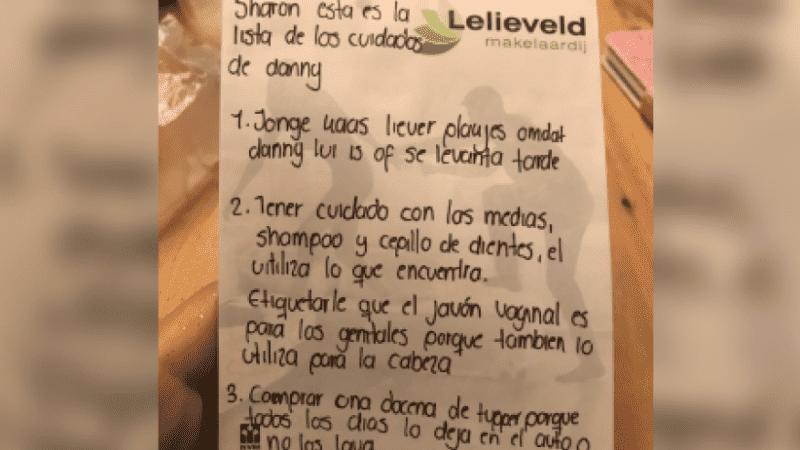 Se fue a vivir con el novio y su suegra le escribió una lista de cómo cuidarlo