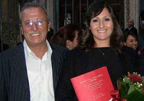 Mary Liguori e suo Papà Vincenzo, nel giorno della laurea della ragazza
