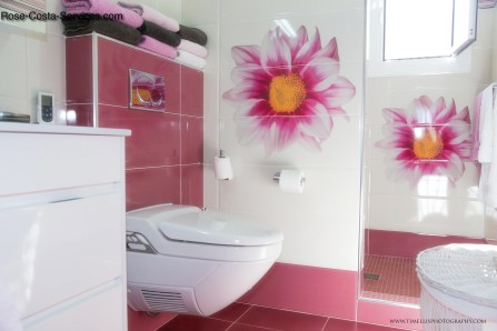 Ensuite bathroom with self-cleaning heated toilet