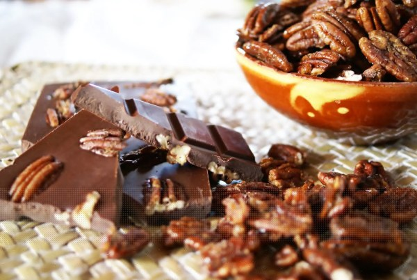olé pécans, chocolat à faible index glycémique