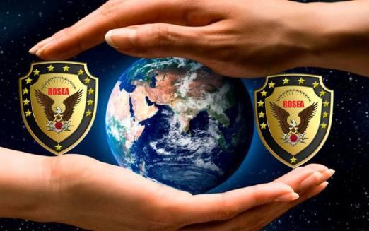 徽标 2 双重保护地球的手