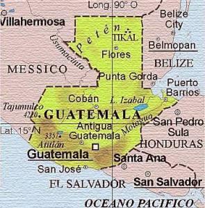 GUATEMALA CARTINA