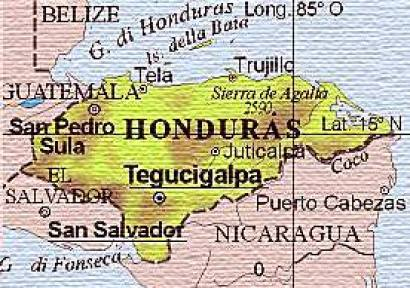 HONDURAS CARTINA