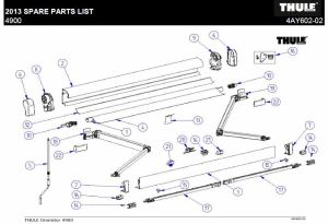 Thule Omnistor 4900 Awning Spare Parts Diagram