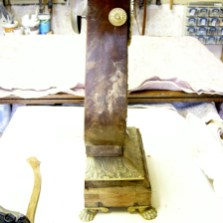 Side view of clock pre-restoration