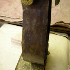 Mouldy veneer before restoration