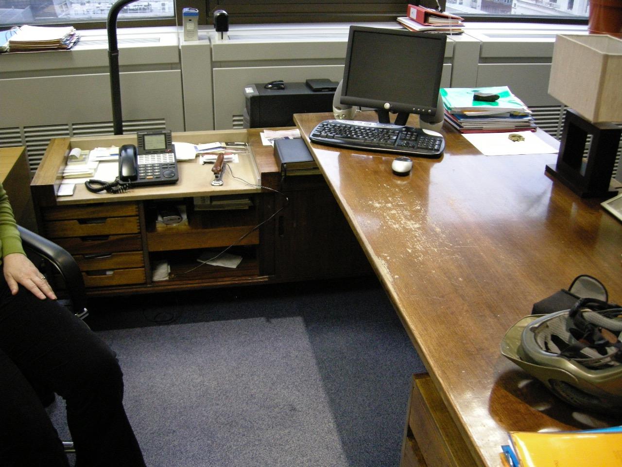 The desk before restoration.