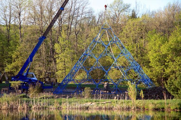 Assembled Pyramid frame