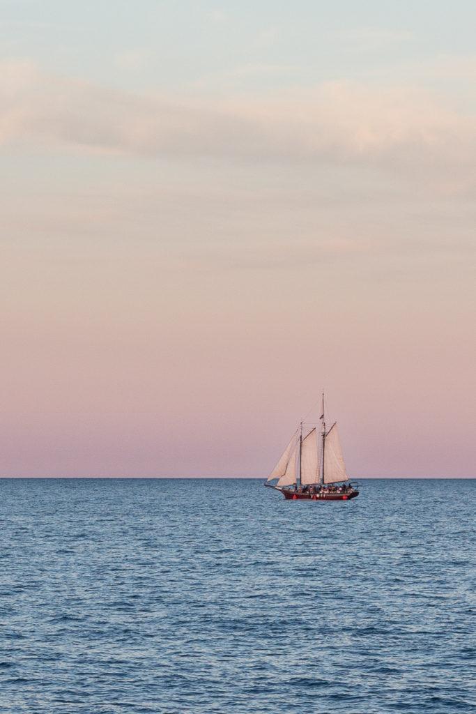 Kenosha Harbor Tall Ship at Golden Hour