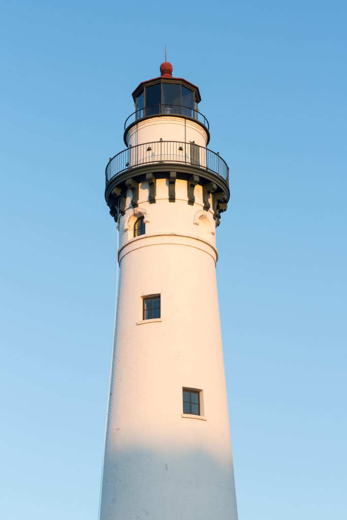 Wind Point Lighthouse at Golden Hour