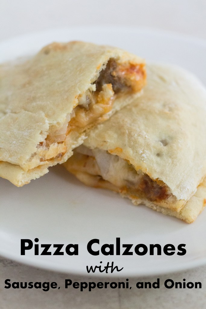 Pizza Calzones With Sausage, Pepperoni, and Onion   http://www.roseclearfield.com