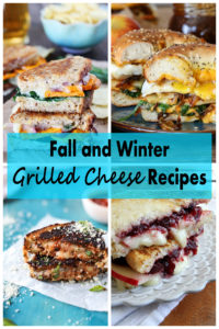Fall and Winter Grilled Cheese Recipes. Delicious lunch and dinner ideas for chilly days! | https://www.roseclearfield.com