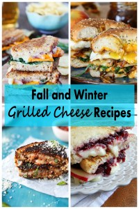Fall and Winter Grilled Cheese Recipes. Delicious lunch and dinner ideas for chilly days! | http://www.roseclearfield.com